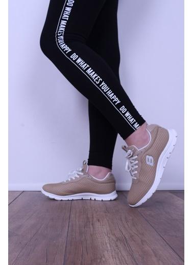 Derigo Derigo 8350 Termo Tabanlı Textill Malzeme Ten Kadın Spor Ayakkabı Ten
